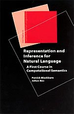 9781575864952: Representation and Inference for Natural Language: A First Course in Computational Semantics (Studies in Computational Linguistics)