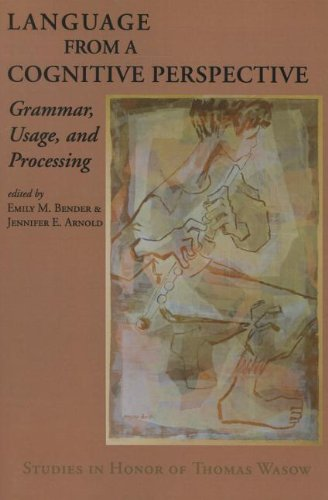 9781575866109: Language from a Cognitive Perspective: Grammar, Usage, and Processing (Lecture Notes)