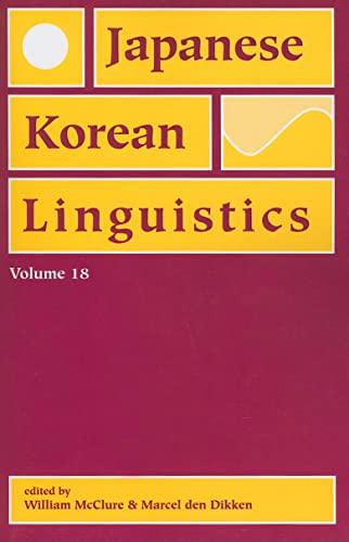 9781575866161: Japanese/Korean Linguistics, Volume 18