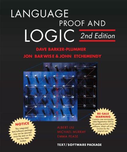 Language, Proof and Logic: David Barker-plummer, Jon Barwise, John Etchemendy