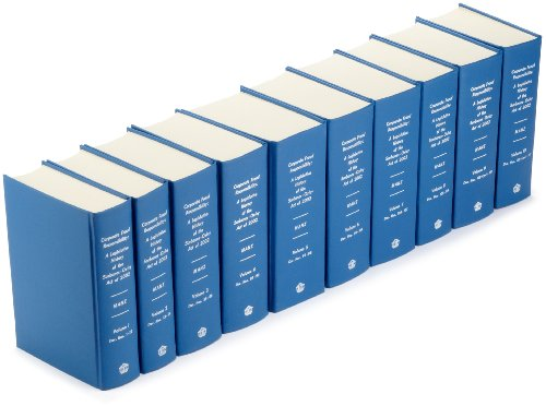 Corporate Fraud Responsibility: A Legislative History of the Sarbanes-Oxley ACT of 2002 (10 Volume ...