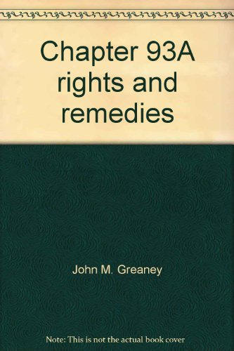 9781575890319: Chapter 93A rights and remedies
