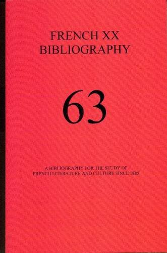 9781575911861: A Bibliography for the Study of French Literature and Culture Since 1885 (French XX Bibliography)