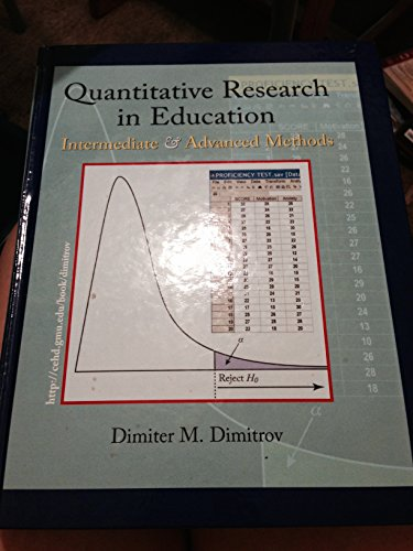 9781576043011: Quantitative Research in Education - Intermediate & Advanced Methods