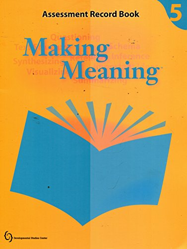 Making Meaning Assessment Record Book Grade 5
