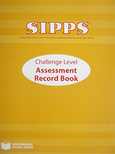 Sipps Challenge Assessment Record Book (1576214753) by John Shefelbine; Katherine K. Newman