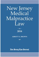 9781576256220: New Jersey Medical Malpractice Law