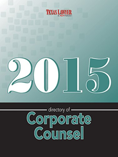 9781576257166: Directory of Corporate Counsel-Texas