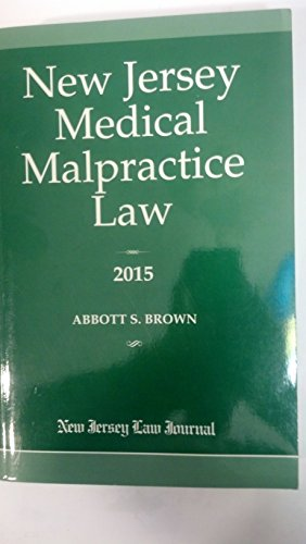 9781576258088: New Jersey Medical Malpractice Law