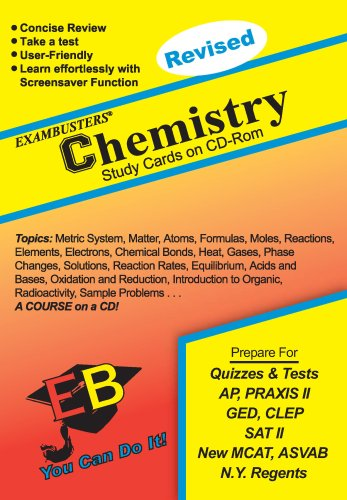 9781576331026: Ace's Chemistry CD Software Exambusters Study Cards (Ace's Exambusters Study Cards)