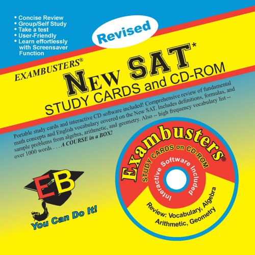 New SAT Study Cards and CD-ROM [With CDROM] (Exambusters Study Cards)
