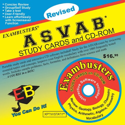 9781576334126: ASVAB Study Cards and CD-ROM [With CDROM] (Exambusters Study Cards)