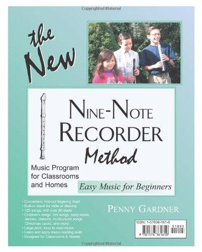 The New Nine-Note Recorder Method Book: Penny Gardner