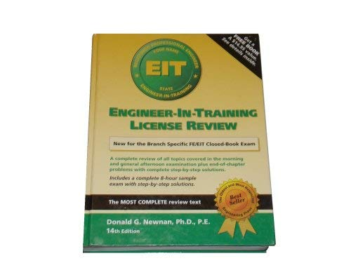 9781576450017: Engineer-In-Training License Review