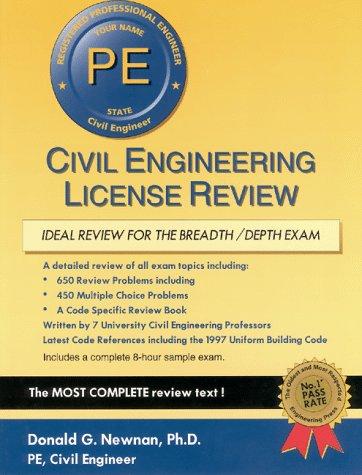 9781576450291: Civil Engineering License Review (Engineering