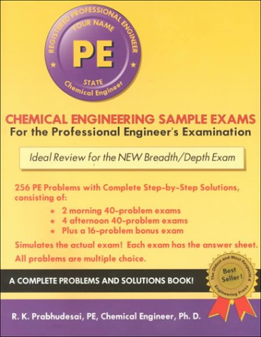 9781576450574: Chemical Engineering Sample Exams (Engineering Press at OUP)