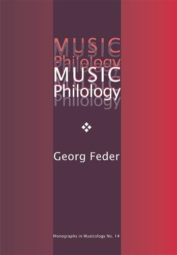 9781576471135: Music Philology: An Introduction to Musical Textual Criticism, Hermeneutics, and Editorial Technique (Monographs in Musicology)