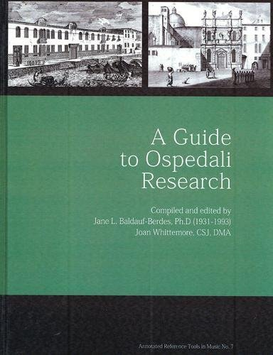 A Guide to Ospedali Research: Sisters Of St.