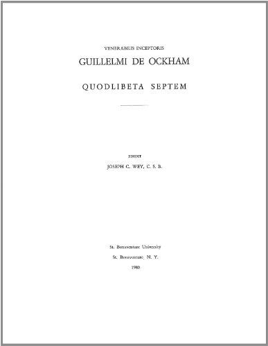 9781576590232: Guillelmi De Ockham: Quodlibeta Septem, Vol. 9
