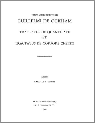 9781576590249: Guillelmi De Ockham: Tractus De Quantitate Tractus De Corpore Christi