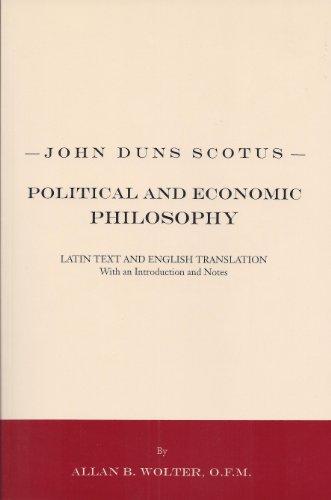 9781576591727: John Duns Scotus: Political and Economic Philosophy