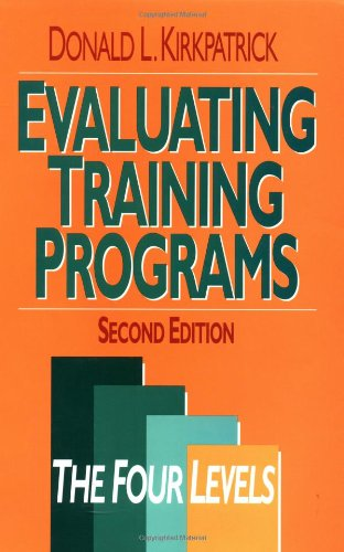 9781576750421: Evaluating Training Programs: The Four Levels