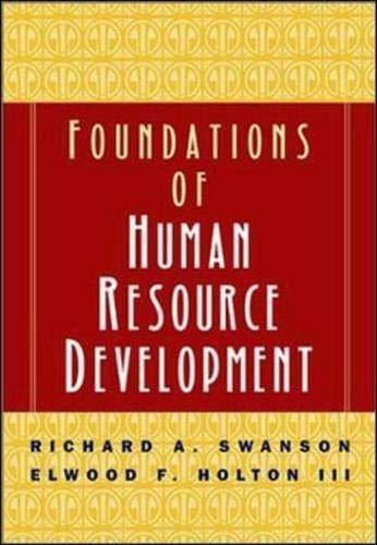 9781576750759: Foundations of Human Resource Development