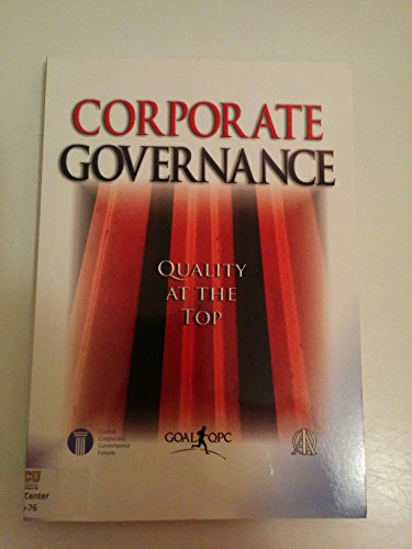 9781576811030: Corporate Governance: Quality at the Top