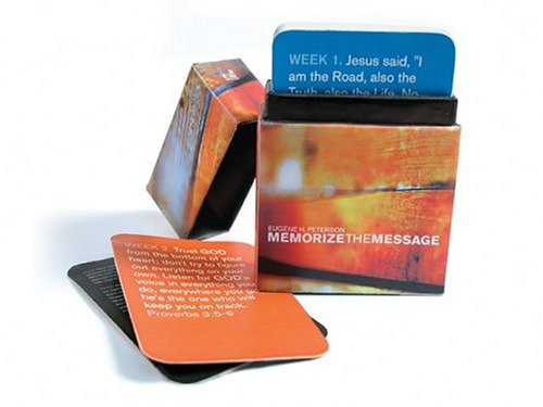 Memorize the Message Deck: 52 Scripture Memory Verse Cards (1576836711) by Eugene H. Peterson
