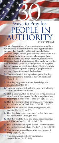 9781576839058: 30 Ways to Pray for People in Authority 50-pack (Prayer Cards)