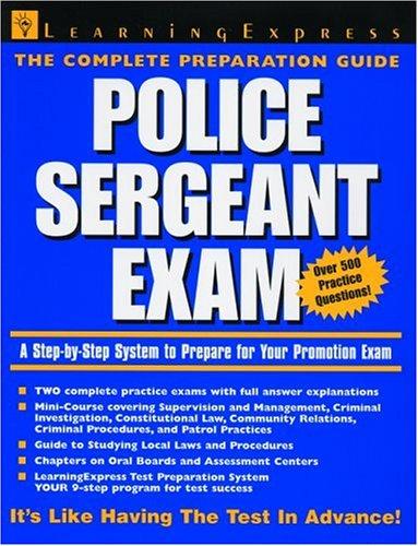 9781576853351: Police Sergeant Exam
