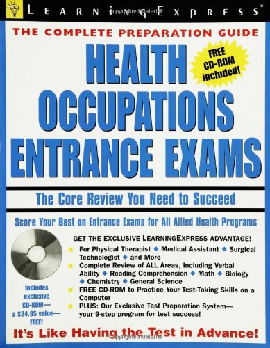 9781576854785: Health Occupations Entrance Exam (Learning Express Education Exams: Complete Preparation Gudies)