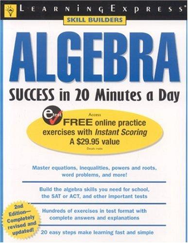 9781576854860: Algebra Success in 20 Minutes a Day