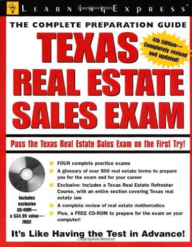 9781576855423: Texas Real Estate Exam (Texas Real Estate Sales Exam)