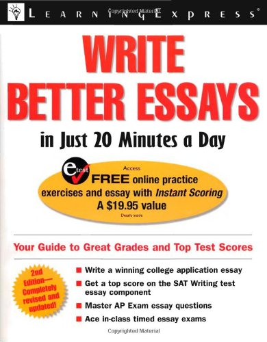 9781576855461: Write Better Essays in Just 20 Minutes a Day