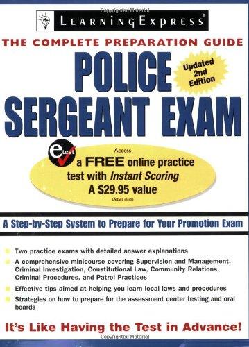 9781576855720: Police Sergeant Exam