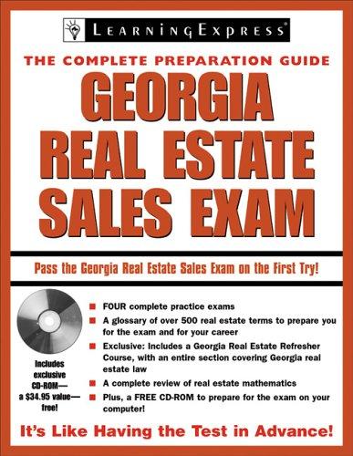 9781576855782: Georgia Real Estate Exam (Georgia Real Estate Sales Exam (Learning Express))