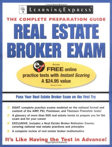 Real Estate Broker Exam (Real Estate Broker Exam: The Complete Preparation Guide): LearningExpress ...