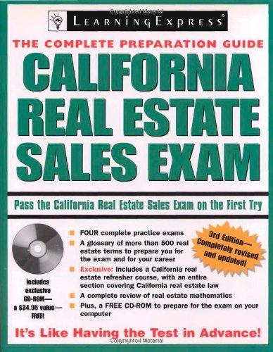 9781576856024: California Real Estate Sales Exam