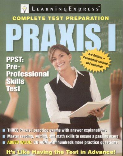9781576856536: Praxis I: PPST: Pre-Professional Skills Test (Praxis I W/CD)