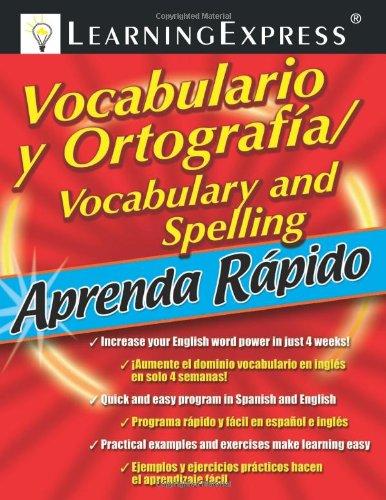 9781576856567: Aprenda Rapido: Vocabulario y Ortografia/Spelling and Vocabulary (Aprenda Rapido (Learn Quickly))