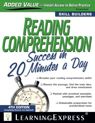 9781576856765: Reading Comprehension Success in 20 Minutes a Day