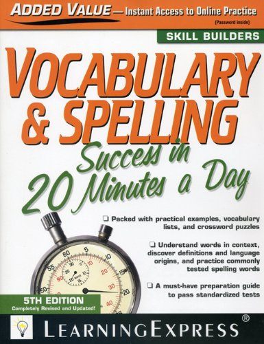9781576856833: Vocabulary & Spelling Success in 20 Minutes a Day (Skill Builders)