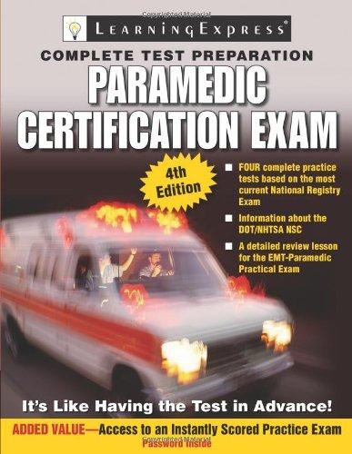 9781576856895: Paramedic Certification Exam