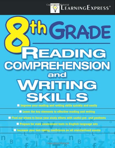 9781576857113: 8th Grade Reading Comprehension and Writing Skills Test