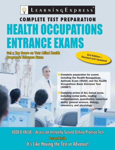 9781576857168: Health Occupations Entrance Exam