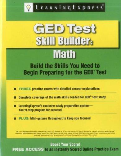 GED Test Skill Builder: Math: Learning Express Llc