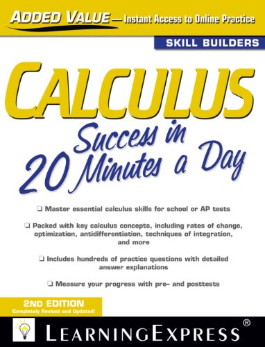 9781576858899: Calculus Success in 20 Minutes a Day