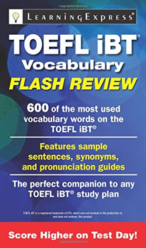 TOEFL iBT® Vocabulary Flash Review: Learning Express Llc