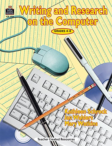 Writing and Research on the Computer: Grades 4-8 [With CDROM]: Mary Watkins